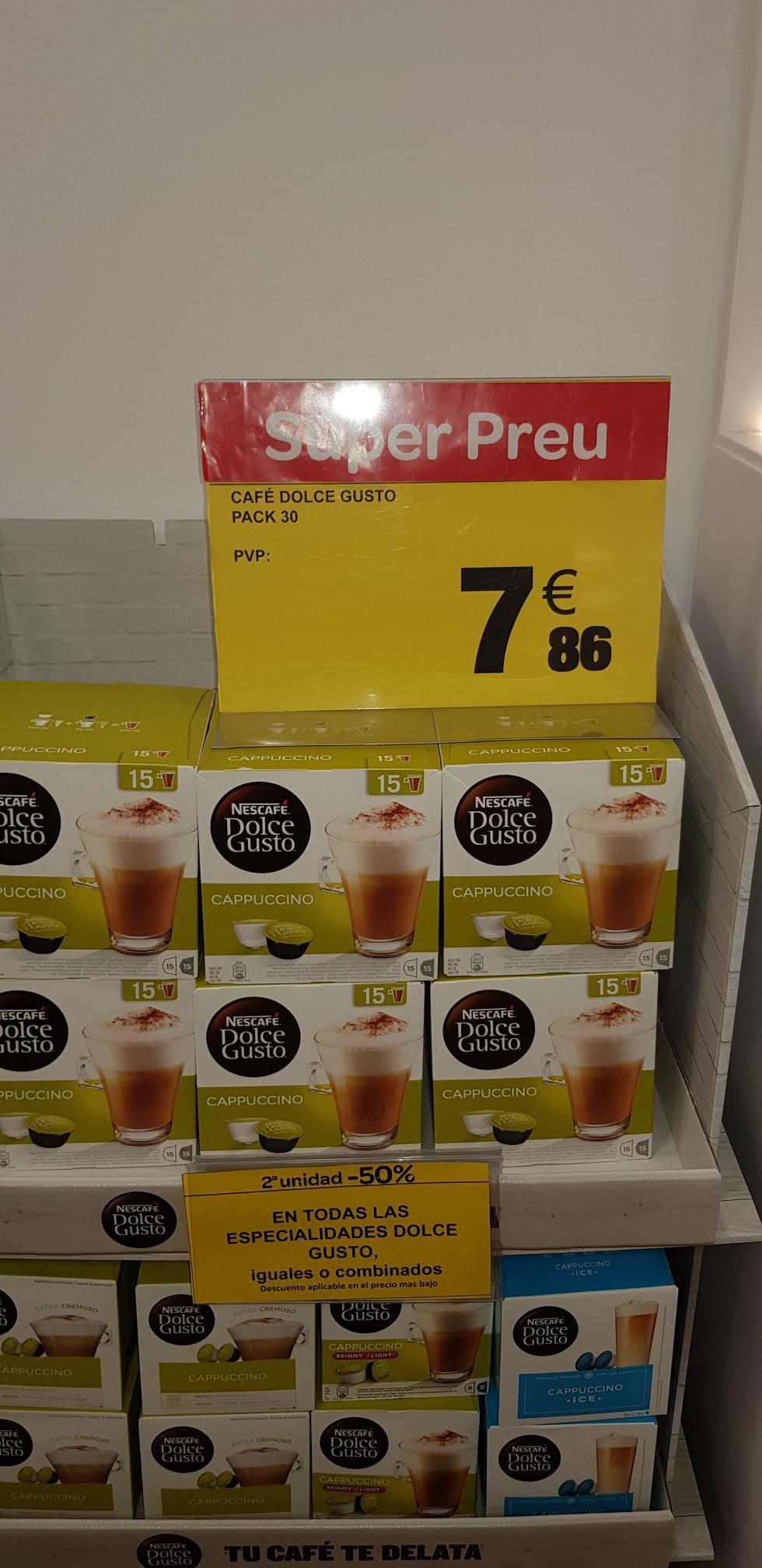 30 cápsulas Nescafe dolce gusto en carrefour montigala