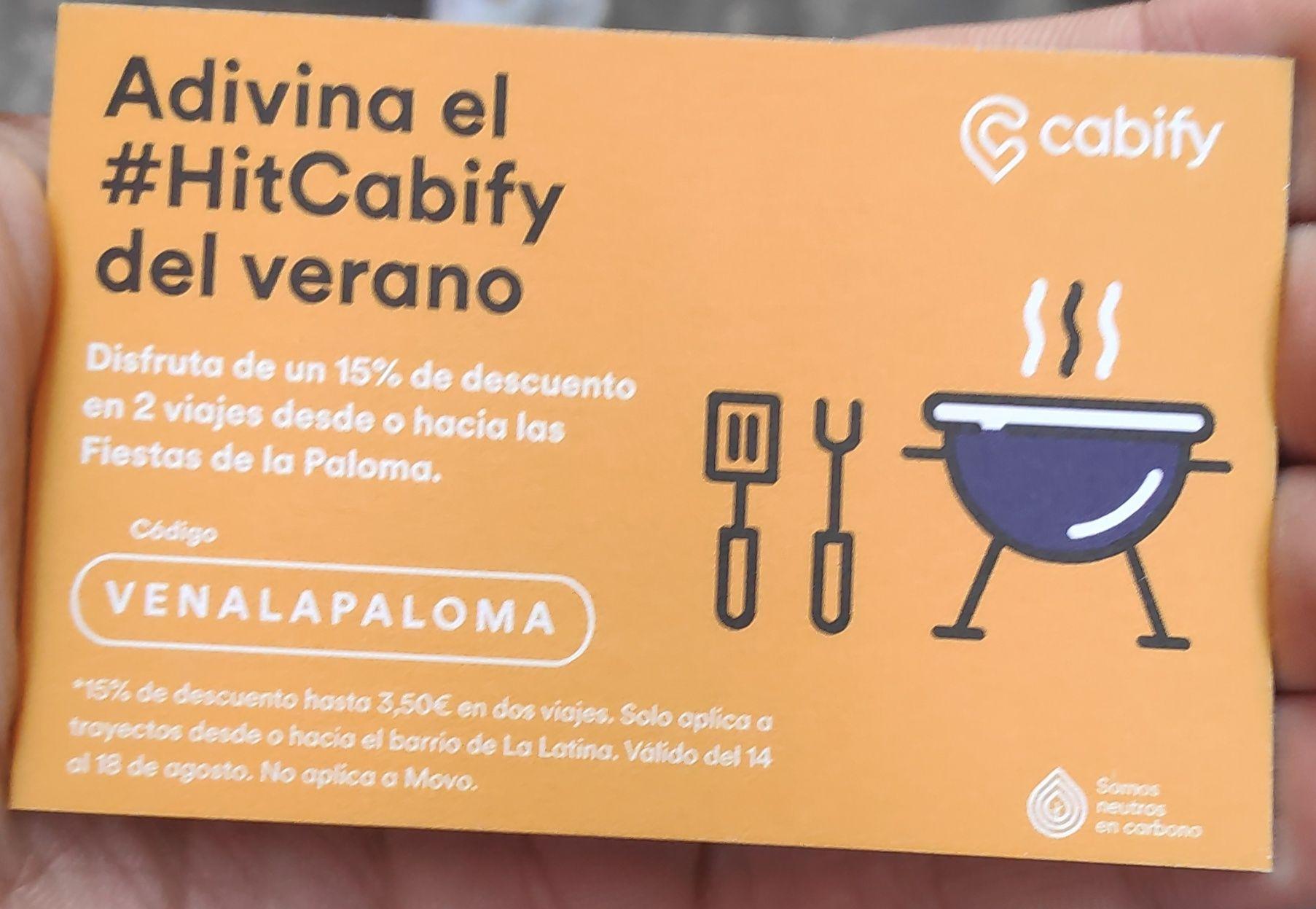 15% descuento Cabify