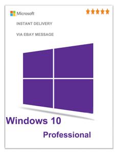 Clave de Windows 10 PRO 32/64 bits