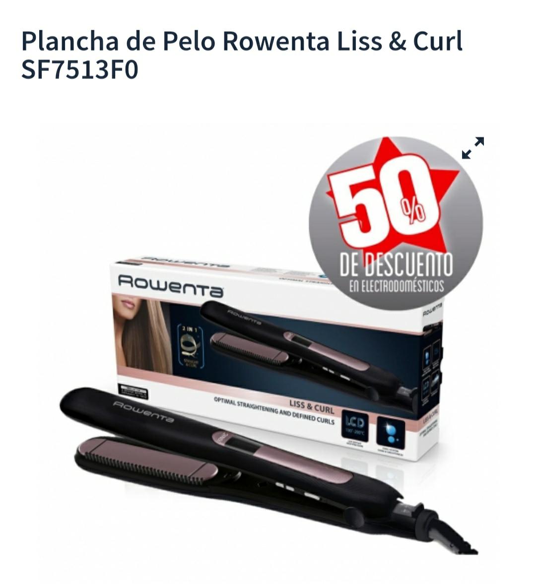 Plancha de Pelo Rowenta Liss & Curl SF7513F0