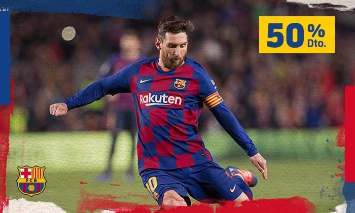 50% descuento en Partidos FC Barcelona