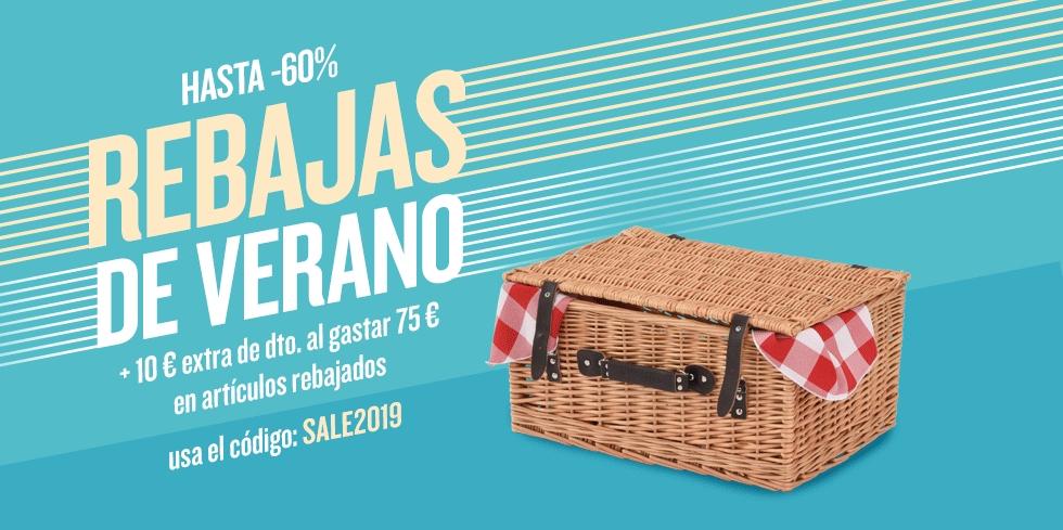 10€ extra de regalo en compras de 75€ en articulos rebajados + rebajas de verano