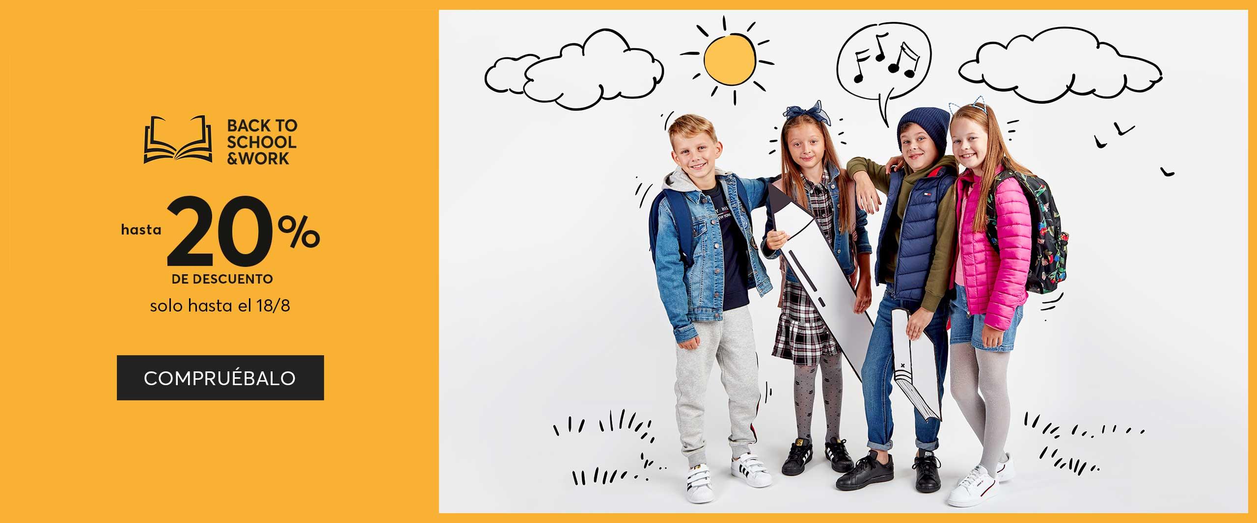 20% código descuento Zapatos.es en la promoción BackToSchool + Suscríbete a nuestro  Boletín de noticias  Recibe 10 euros*.