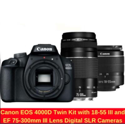 Kit Canon EOS 4000D, Objetivos 18-55 III y 75-300 III