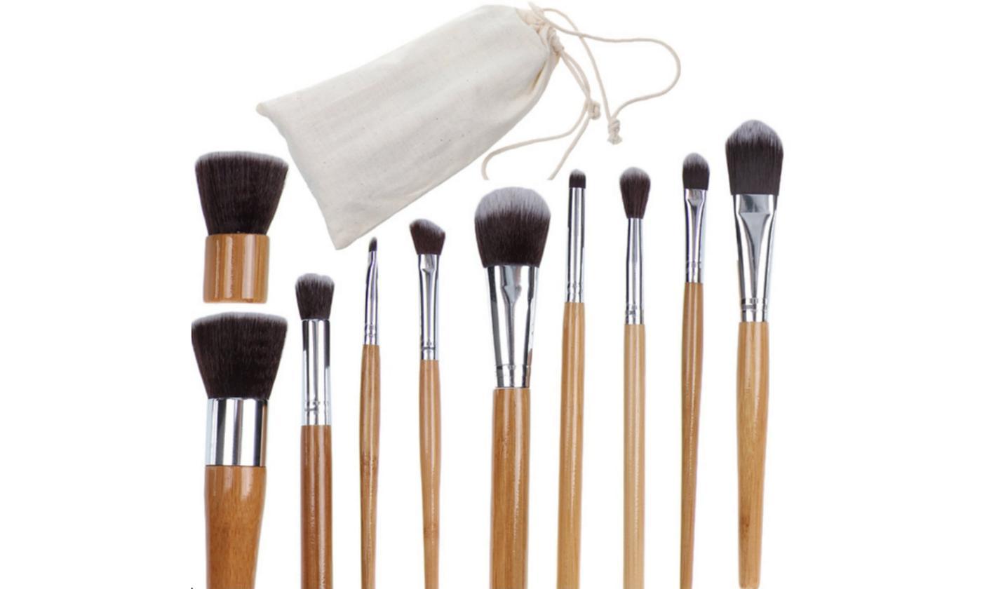 Set brochas de bambú para maquillaje