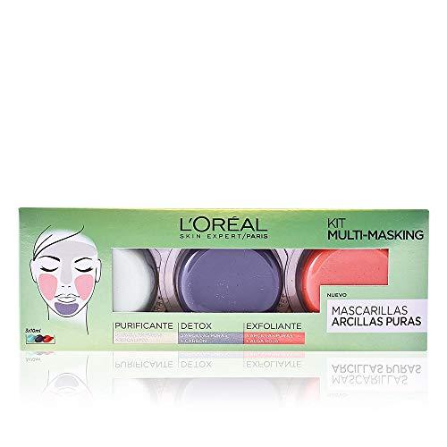L'Oréal Paris Arcillas Puras Kit Multi-Masking - 6 mascaras faciales por 6 €