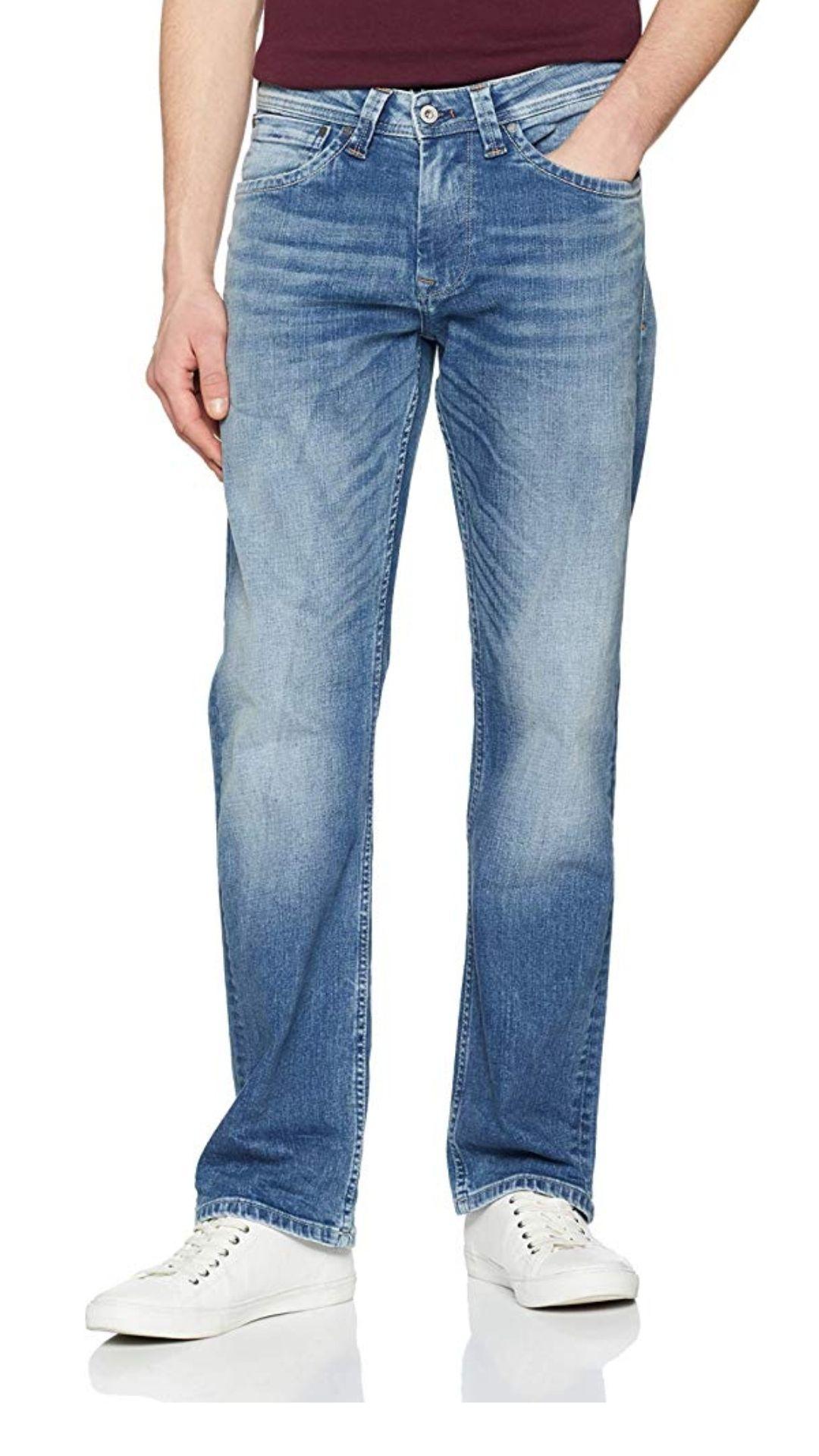 Pepe Jeans Kingston Zip Vaqueros Straight, ((Denim Gris Gm2), W28/L32 (38 ES) para Hombre