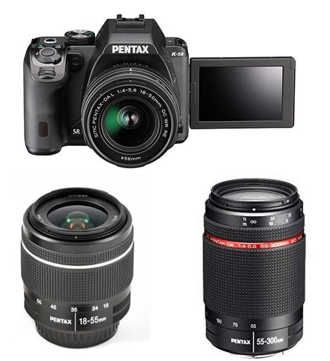 Pentax K-S2 Reflex + Objetivos 18-50mm WR y 55-300m WR