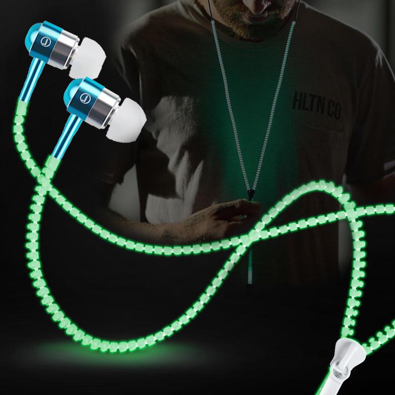 Auriculares fluorescentes con micrófono 3,5 mm