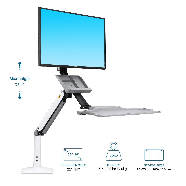 Estación trabajo soporte monitor y teclado solo 39.9€