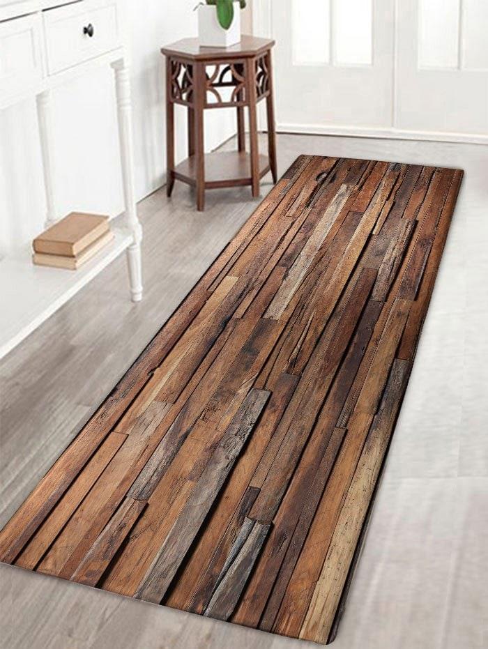 Alfombra imitación madera W16 L47 (41 x 120 centímetros)
