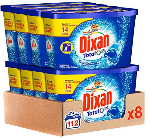 Dixan Duo Caps, Detergente en Cápsulas 14 Dosis - Paquete de 8