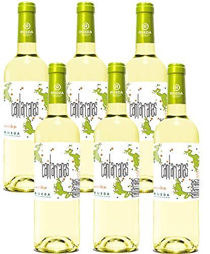 6 botellas de castellana cantarranas Verdejo 2017 de 75 cl cada una