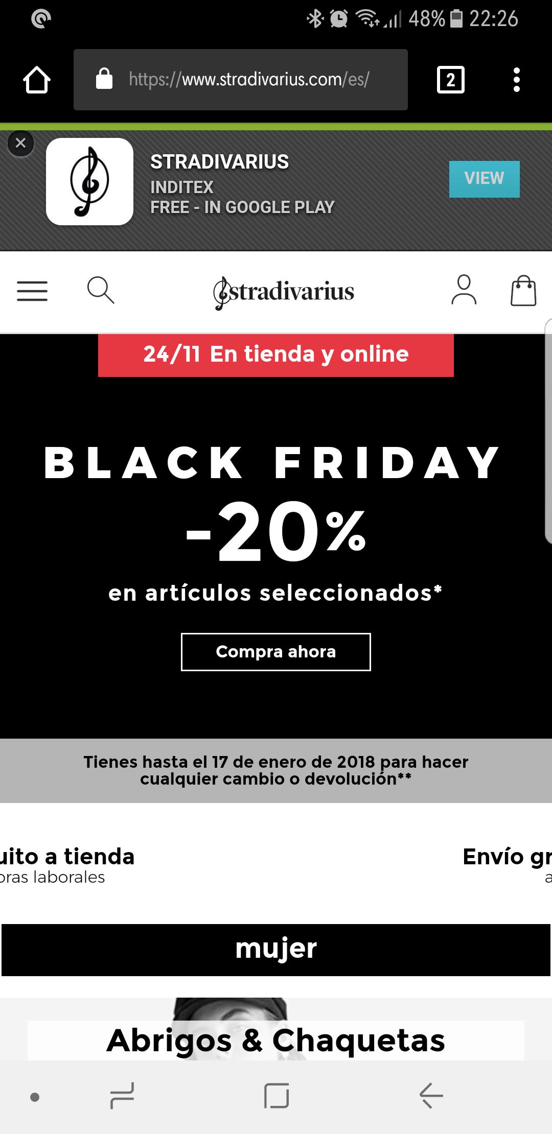 20% descuento Stradivarius - Black Friday