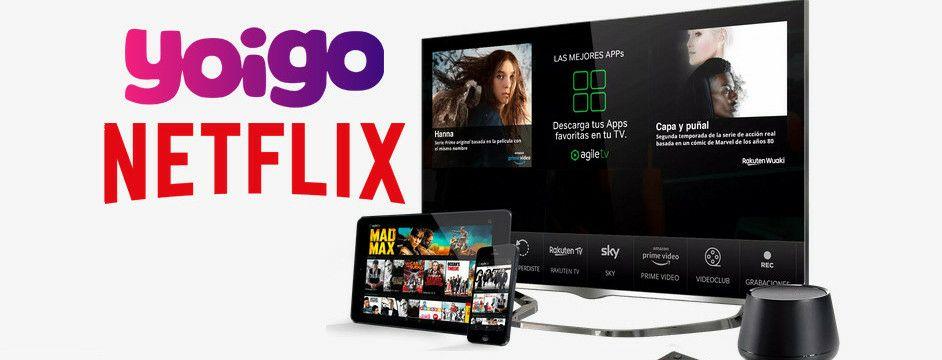 Gratis 3 meses de Netflix y 1 año de AgileTV Rakuten (Yoigo)