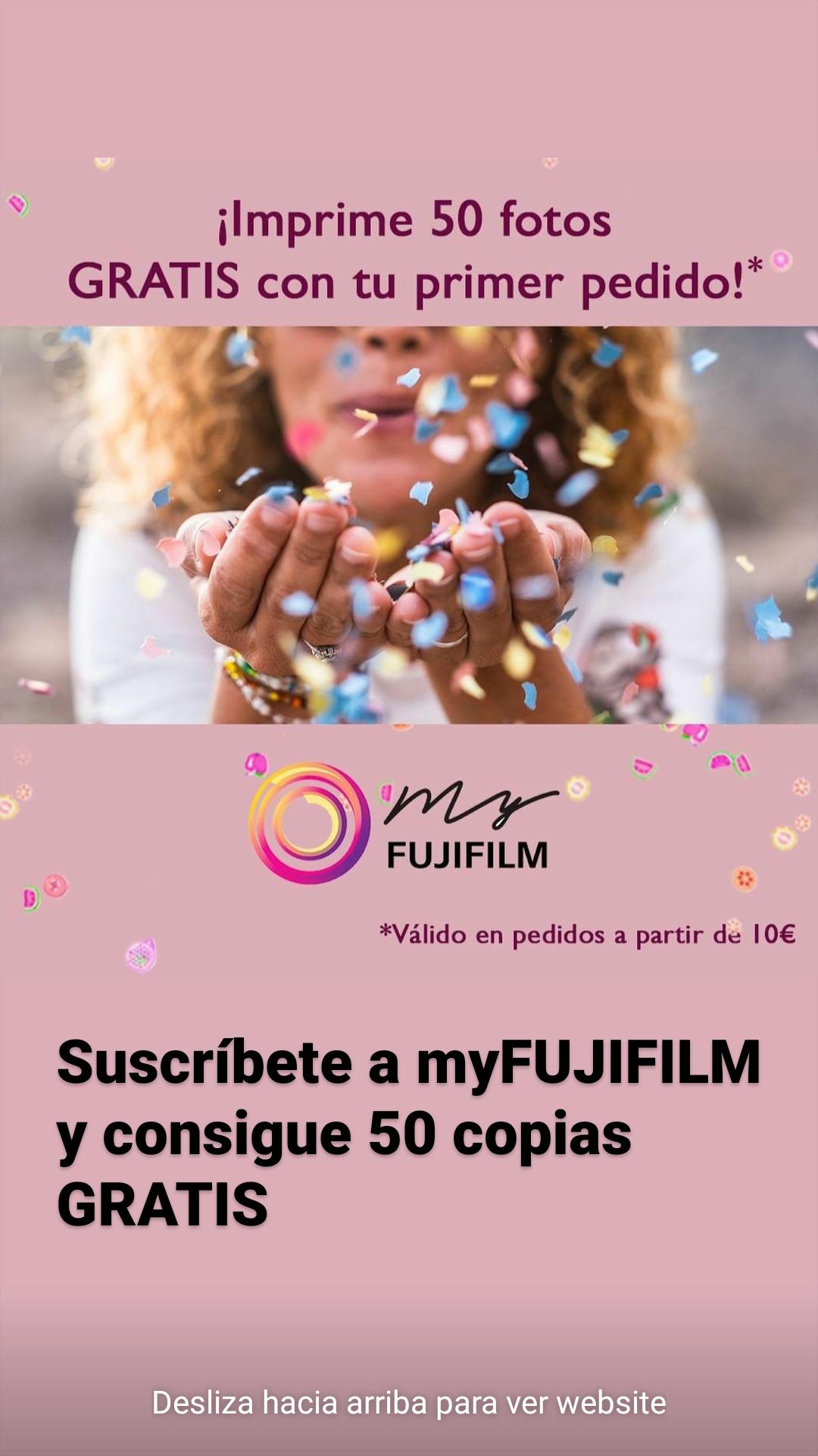 50 fotos de regalo con tu primer pedido - Fujifilm