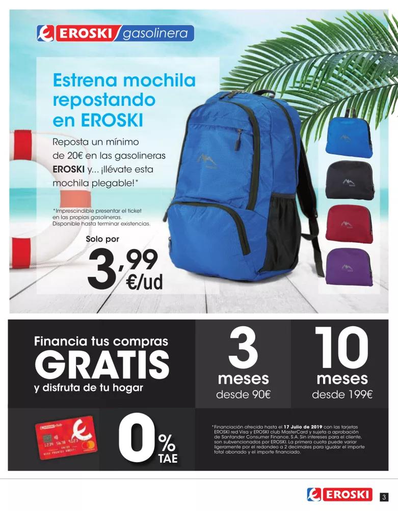 PROMOCIÓN EROSKI MOCHILA 3,99€