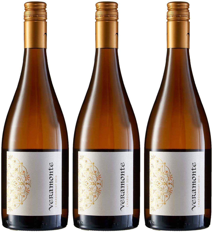 3 botellas de Veramonte Chardonnay 750 ml - Total: 2250 ml. (Vino Chileno)