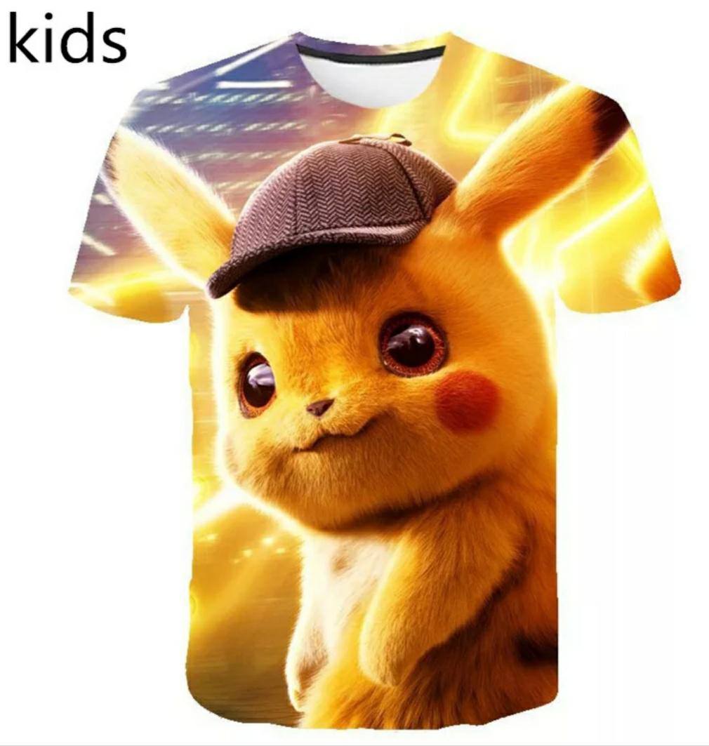 Camisetas Hiperrealistas Pokemon Niños/Adultos (16 modelos, muchas tallas)