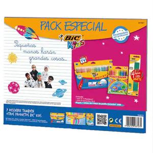 Pack Especial Coloreado (BIC): 24 rotuladores + 12 cera + 4 Lápiz