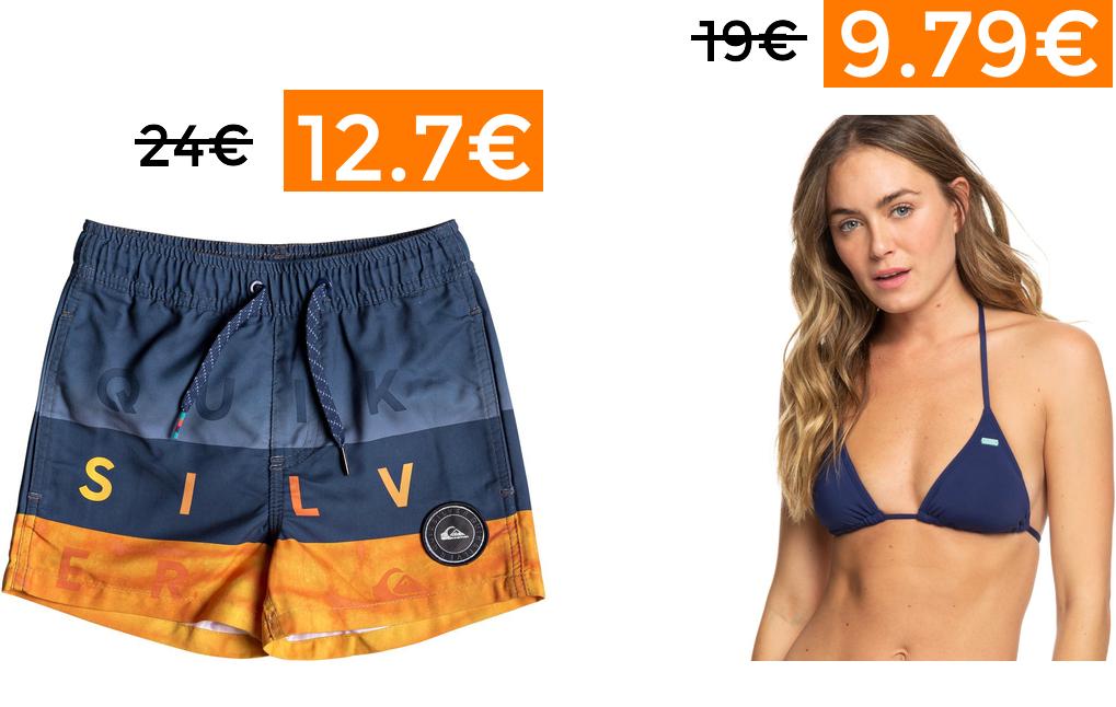 30% EXTRA en ropa de baño y verano Quiksilver y Roxy