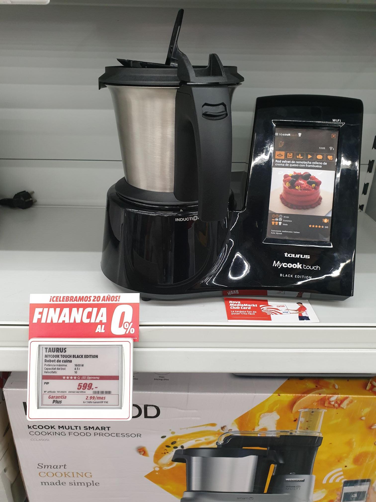 Robot de cocina Taurus Mycook Touch Black Edition en MM de Tarragona