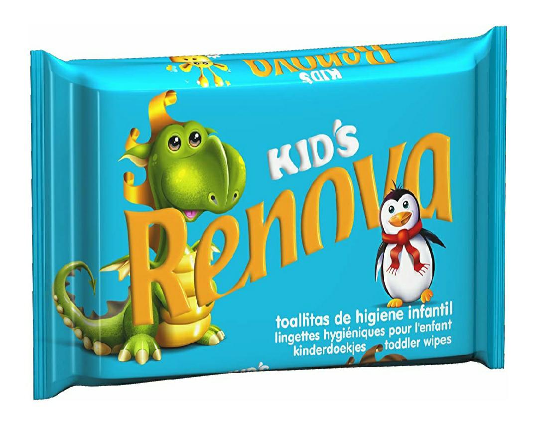 Renova Toallitas higiénicas Kids - 40 toallitas - [Pack de 6]