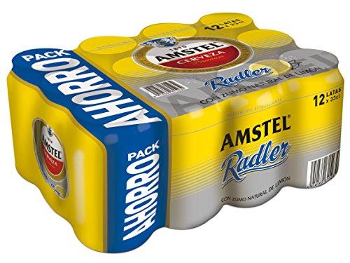 12 latas de amstel radler limón cerveza de 330ml cada una. Amazon pantry
