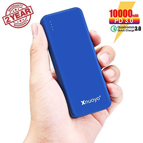 Batería Externa 10.000 mAh 18W USB-C QC 3.0 Carga rápida. Xnuoyo