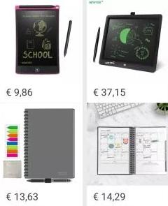 Cupón vendedor de 4,58 €  (cuadernos, libretas, tableta gráfica LCD...)