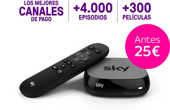 2 meses de Sky más Sky TV Box por 5 euros