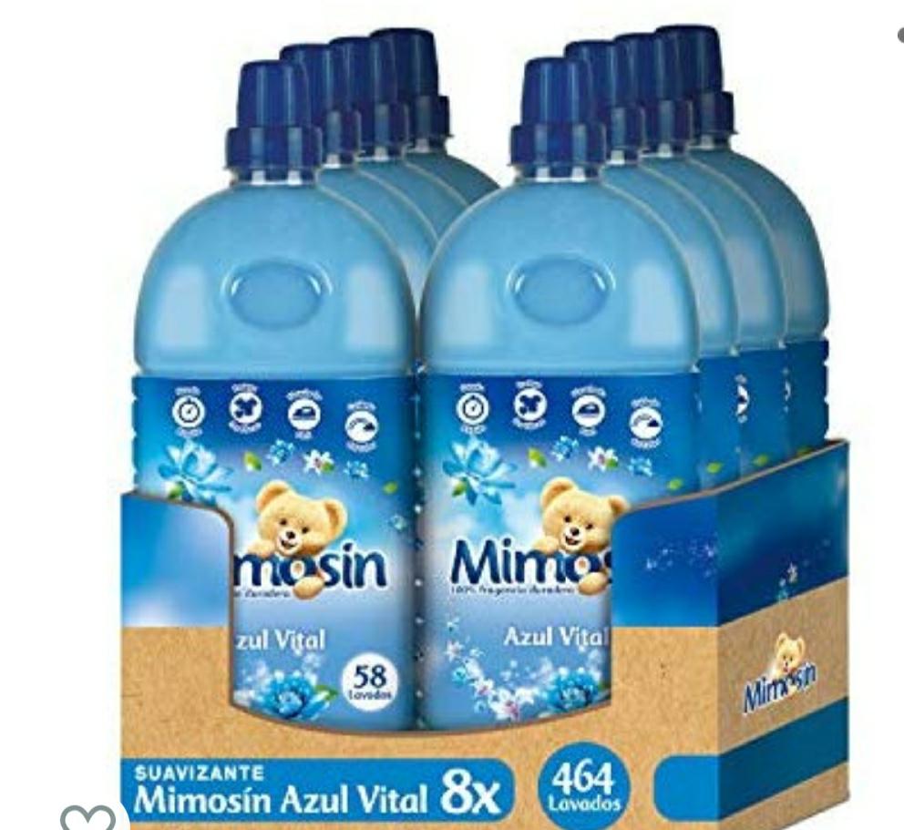 Mimosin Azul Vital Suavizante concentrado - 58 lavados - pack de 8