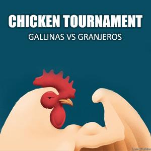 Chicken Tournament, granjeros vs gallinas (Android)