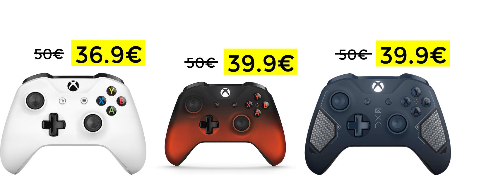 Mandos Xbox One desde solo 36.9€