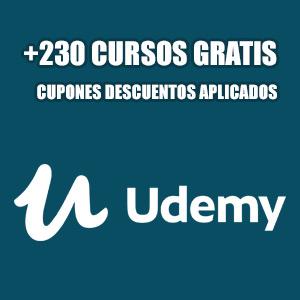 +230 cursos gratis variados: Desarrollo, IT, Diseño, Negocios (Udemy, Inglés)
