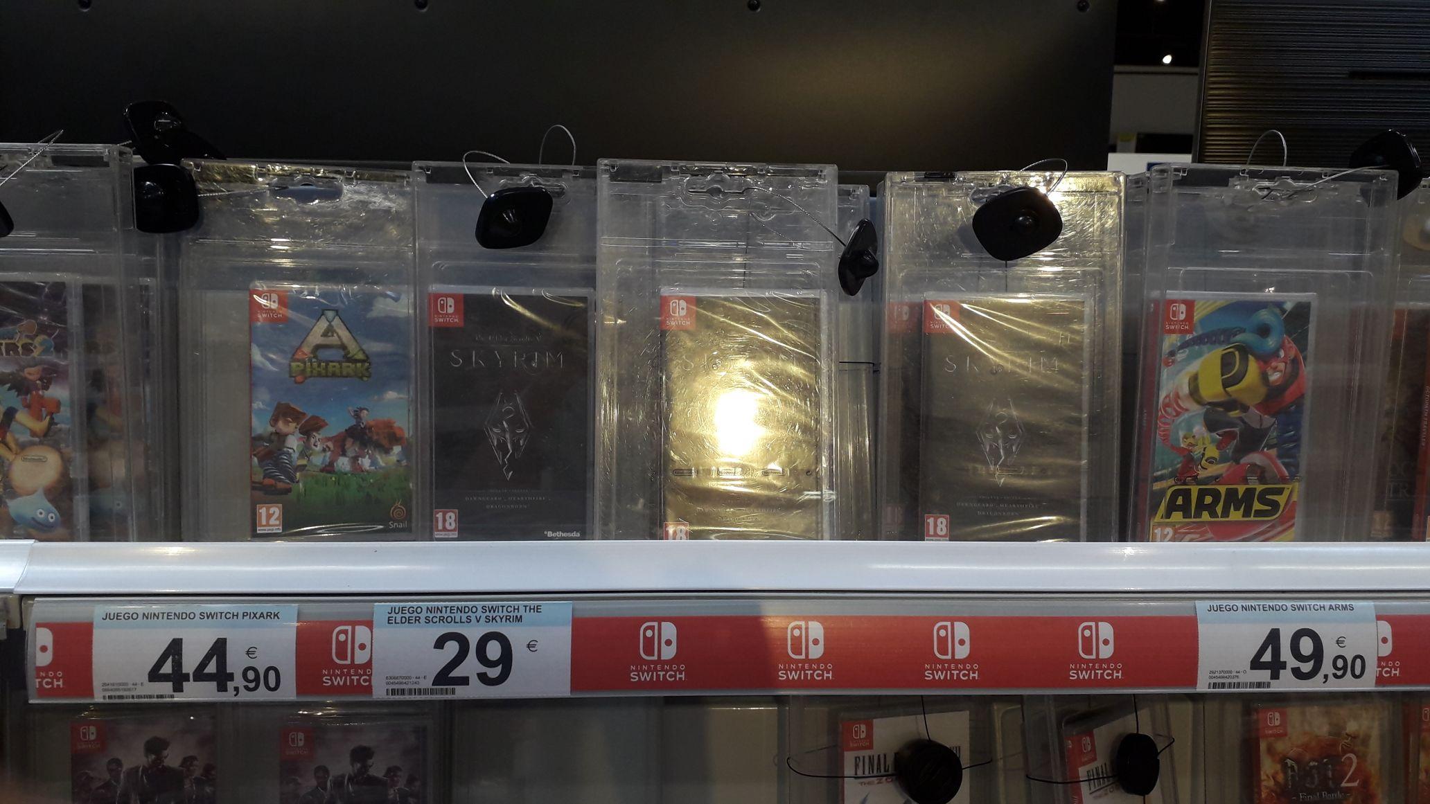 Skyrim Switch 29€ Carrefour
