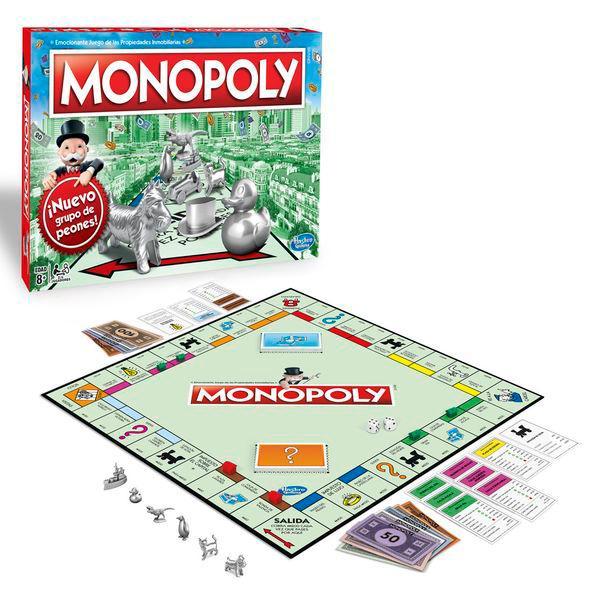 Juegos de mesa Hasbro: Monopoly, Twister y Tragabolas