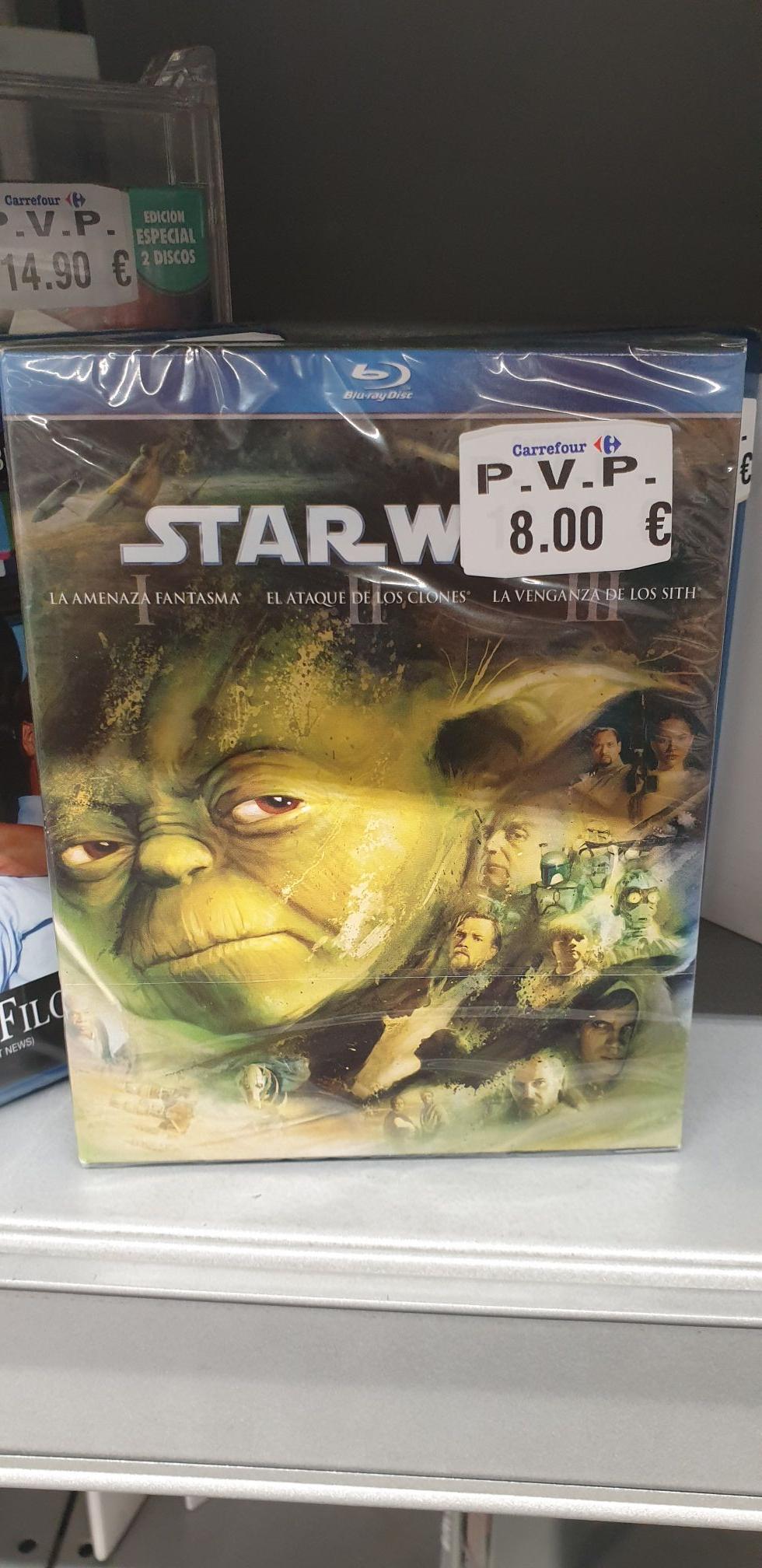 Star Wars Precuelas Episodios I, II, III (Bluray) en Carrefour de Los Valles