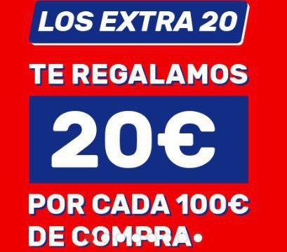Worten - 20€ extra por cada 100€ de compra