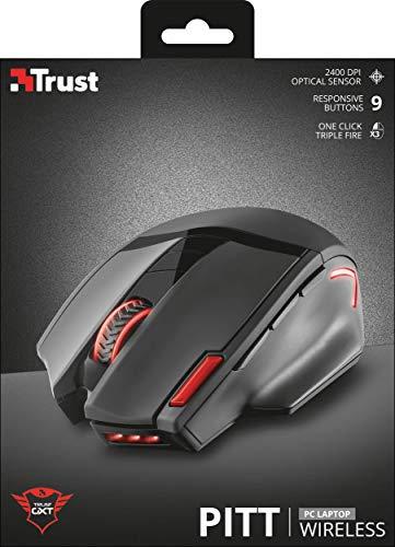 Trust Gaming GXT 4130 Pitt - Ratón inalámbrico de Gaming
