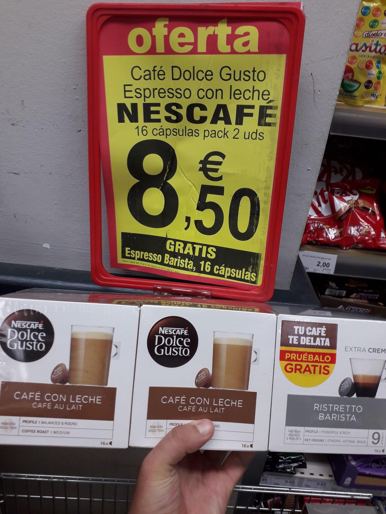 Dolce Gusto Pack 48 cápsulas - 3x16 (2 x Espresso con Leche + 1 x Ristretto Barista) Supersol
