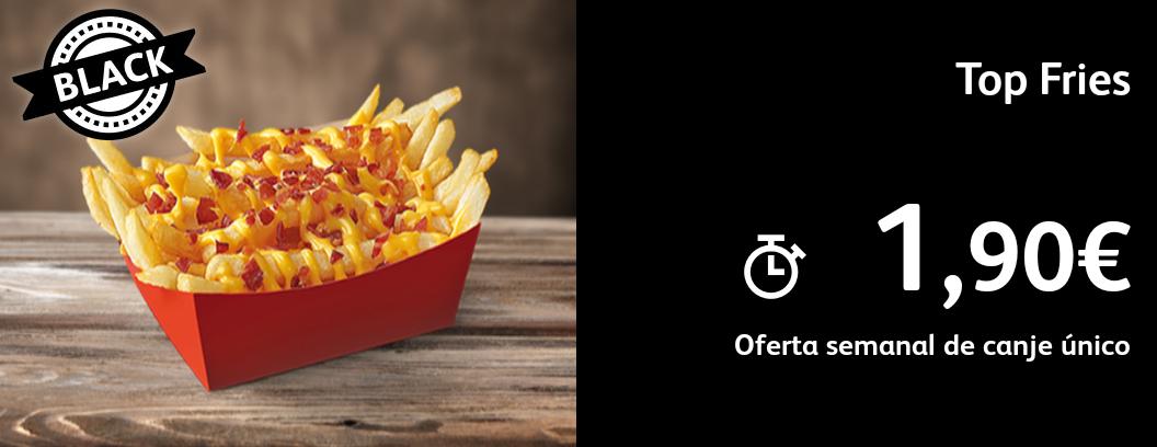 Top fries - Patatas fritas con bacon y cheedar