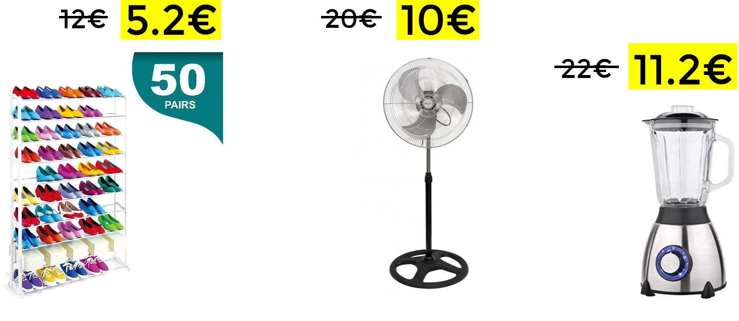 Selección de productos de hogar (desde España)