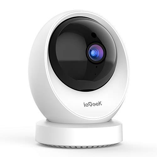 ieGeek Cámara de Vigilancia WiFi Interior, Cámara IP WiFi 1080P HD, Detección Humana