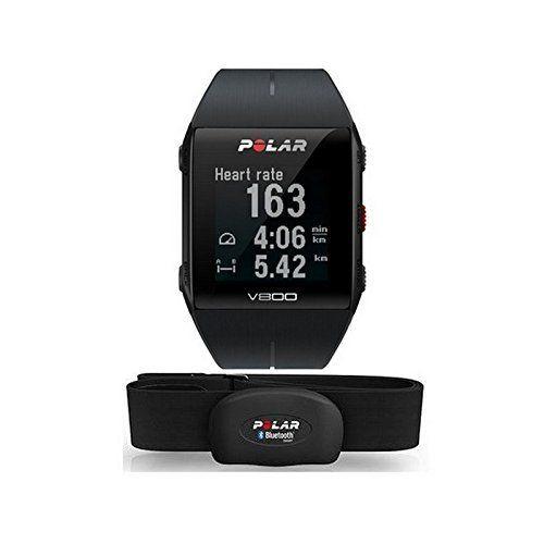 Polar V800 Black/Red HR - Reloj deportivo GPS con sensor de frecuencia cardíaca