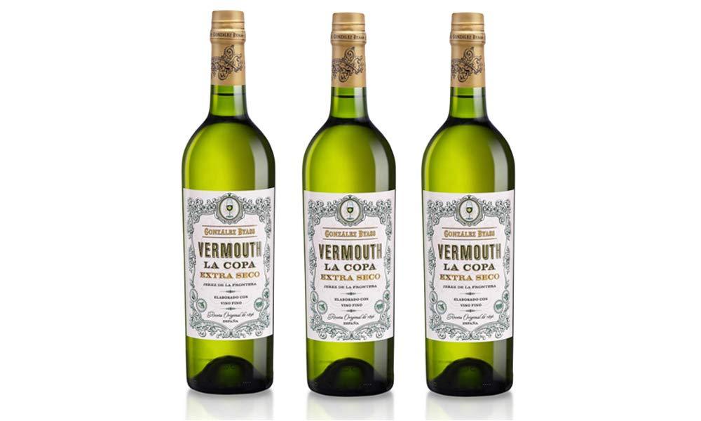 Vermouth La Copa Extra Seco - 3 botellas x 750 ml - Total: 2250 ml