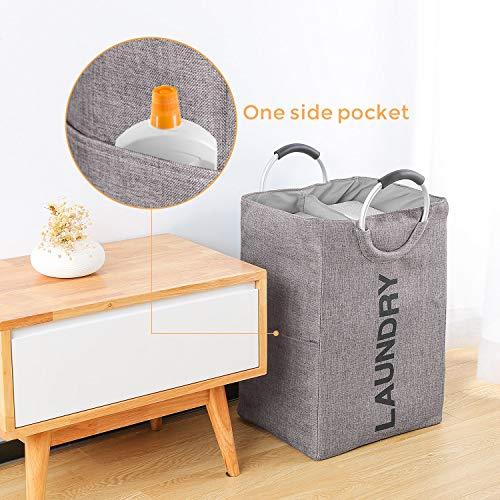 Cesto plegable para la ropa sucia con dos compartimentos
