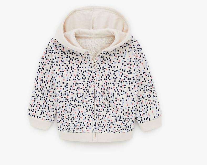 Chaqueta con capucha para bebé/niña de ZARA