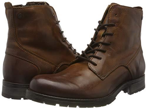 Jack & Jones Jfworca Leather Boot Cognac Noos, Botas Clasicas para Hombre.
