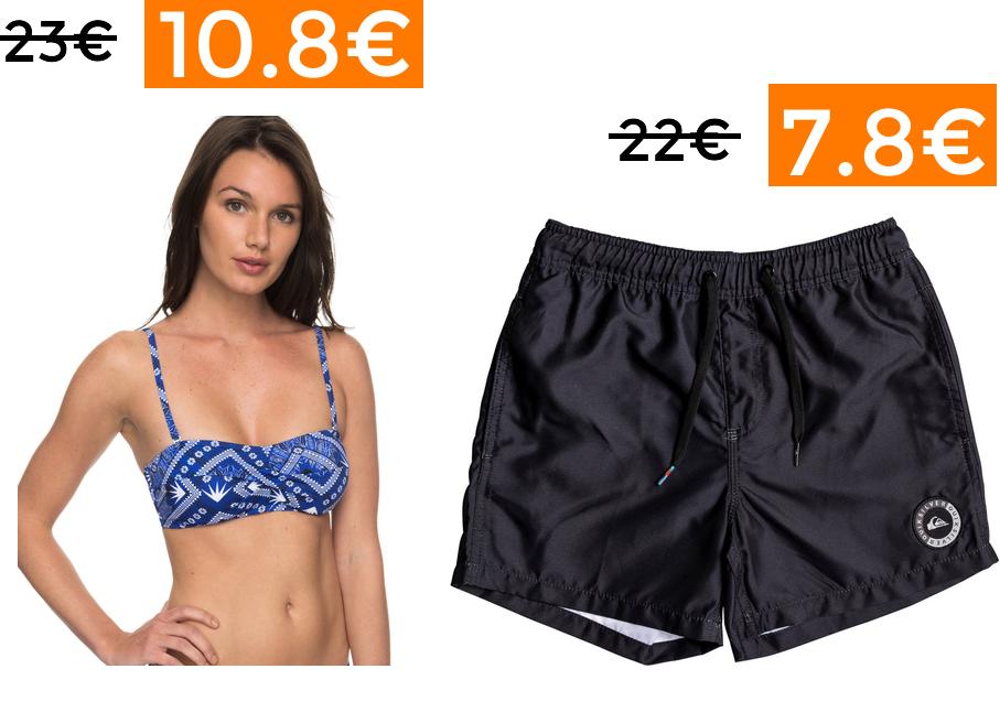 40% EXTRA en ropa de baño y verano Quiksilver y Roxy (Solo hoy)